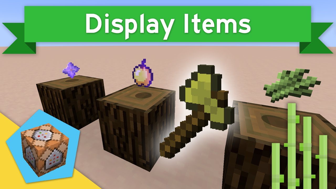 ITEM SHOWCASES in Vanilla Minecraft 1 10+ | Display Items Command Block  Creation