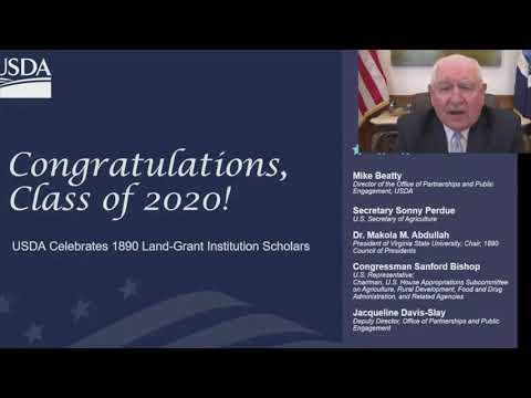 Sonny Perdue Addresses USDA 1890 Scholars