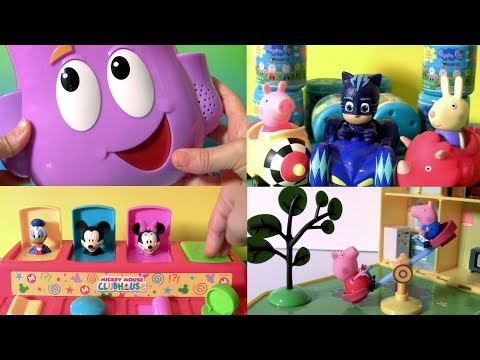 Compilation of Disney Toy Surprises | Talking Dora's Backpack Surprise PJ Masks Peppa Pig by Funtoys