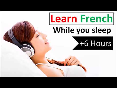 Learn French while you sleep ♫ 6 hours 👍 1000 Basic Words and Phrases