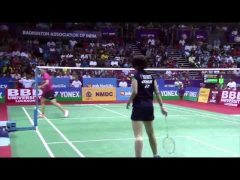 Saina Nehwal vs Yui Hashimoto | WS SF Match 4 - YONEX Sunrise India Open 2015