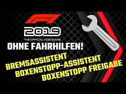 Ohne Fahrhilfen L Bremsassistent, Boxenstopp-Hilfen L Formel 1 2019 Tutorial L Deutsch/German