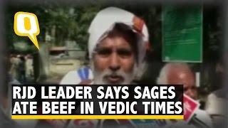 Hindu Sages Consumed Beef In Vedic Times: Raghuvansh Prasad
