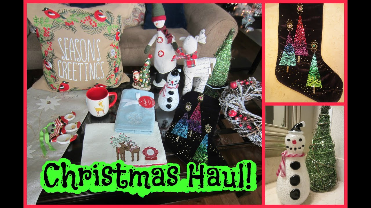 Christmas Decor Homegoods Shopping Haul Youtube