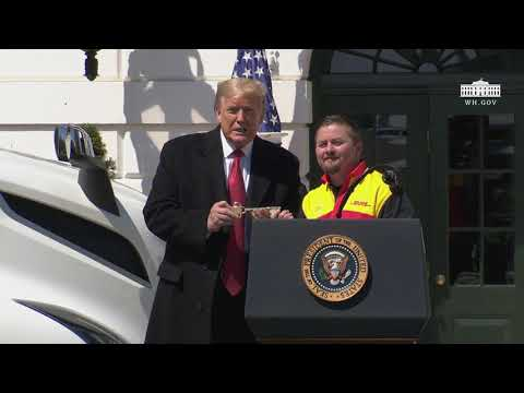 Trump Salutes America's 3.5 Million Truck Drivers with 'Thank God for Truckers' Event