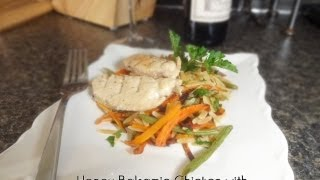 Healthy Honey Balsamic Chicken With Roasted Vegetables And Whole Wheat Orzo Recipe