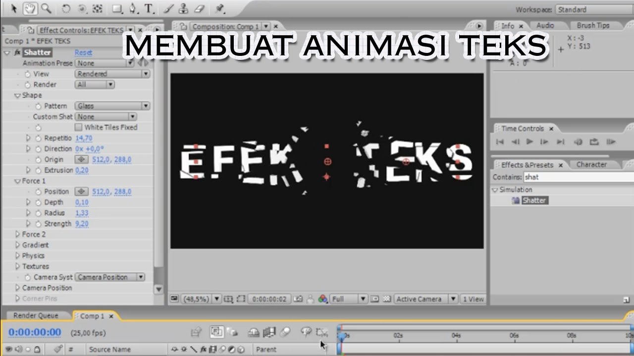 tutorial after effect bahasa indonesia pdf