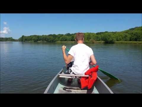 Canoing por el Rio Wisconsin
