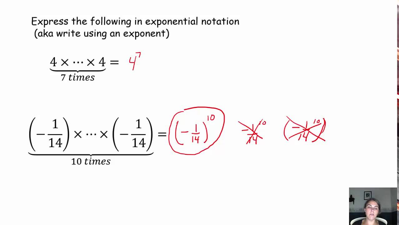 Exponential Notation Lesson 1