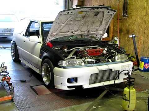 d16z6 turbo fully built dyno run 17psi