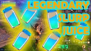 LEGENDARY SLURP JUICE FORTNITE AND FUNNY MOMENTS / GLITCHED / HACKED CHARACTERS | NEW SECRET WEAPON!
