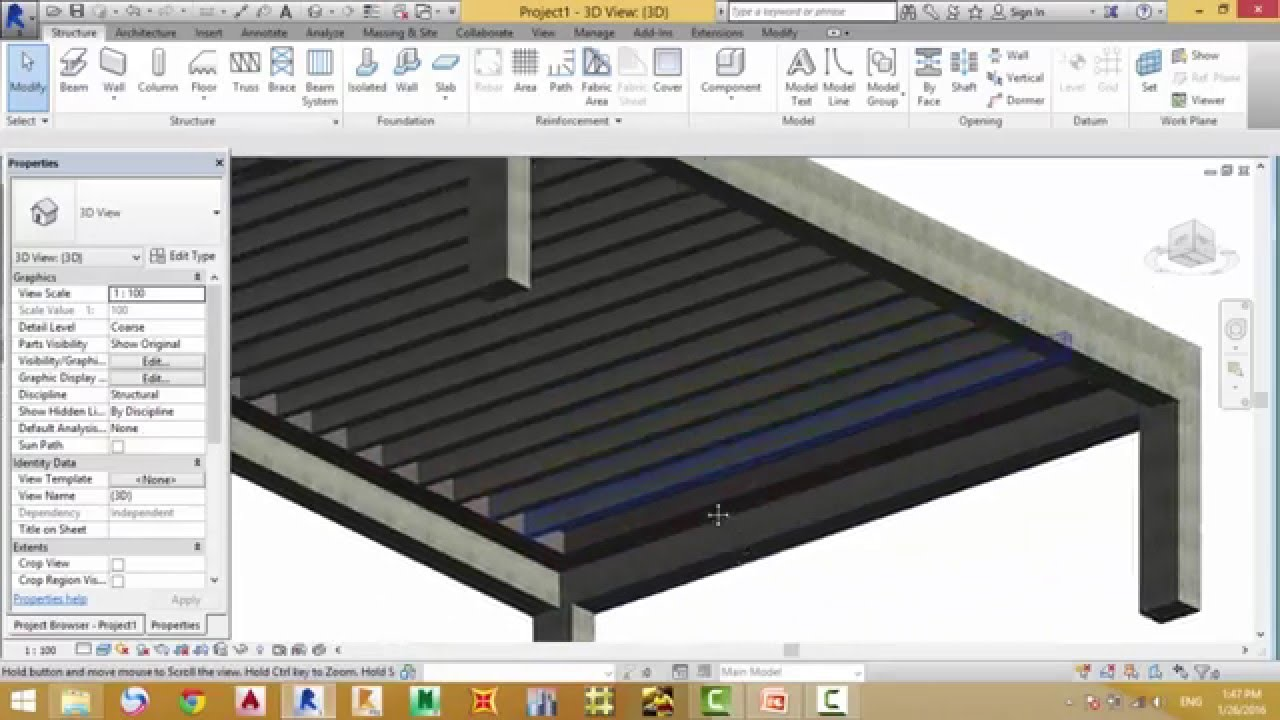 Revit structure2015-Hollow Block -Eng Bassem Farhan