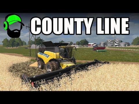 Farming Simulator 17 - County Line - Winter Wheat Harvest #FS17