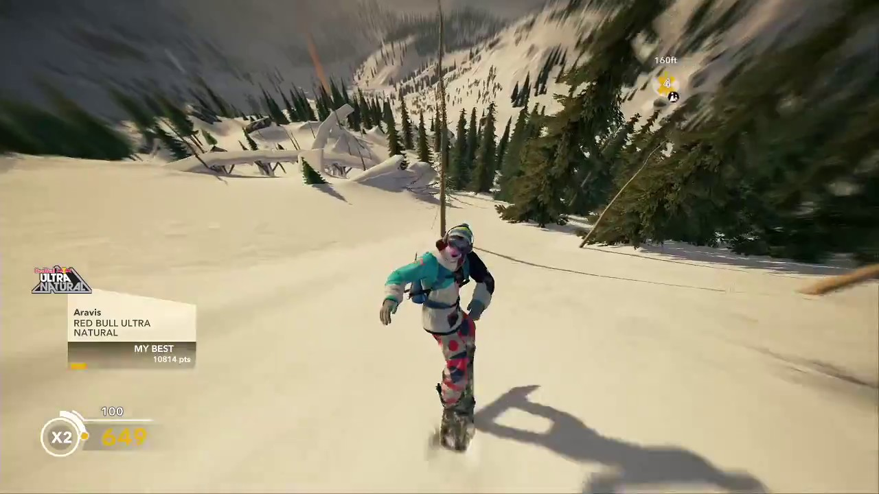 STEEP BETA: Red Bull Ultra Natural Lines (Low/No G-force) - YouTube