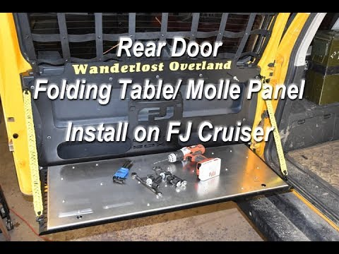 Rear Door Fold Down Table/ Molle Panel For FJ Cruiser, Install