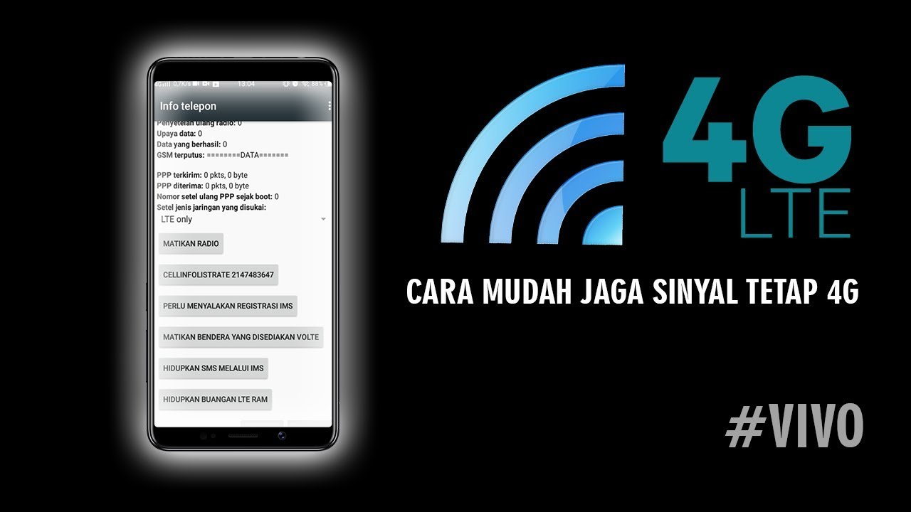 Cara Mudah Ganti Sinyal 4g Untuk Hp Vivo Hanya Dengan Dial Telepon Saja Youtube