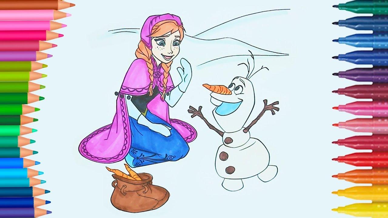Frozen Anna E Olaf Come Disegnare E Colorare Disegni Da