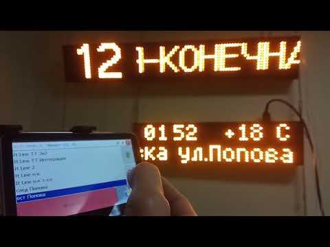 Комплект автобусных табло ITLINE с автоинформатором