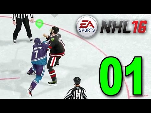 NHL 16 - Part 1 - ALREADY GOT IN A FIGHT! (EA Sports Hockey League Gameplay)