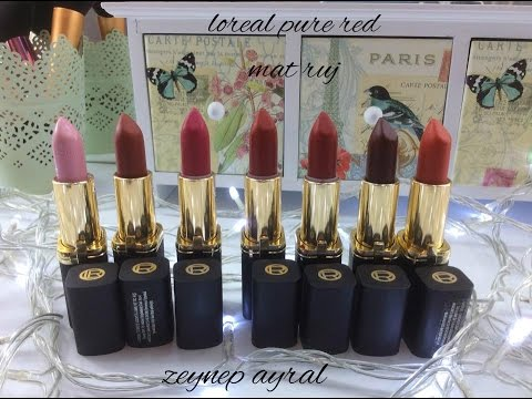 Loreal Collection Exclusive Pure Red Ruj Renkleri Youtube