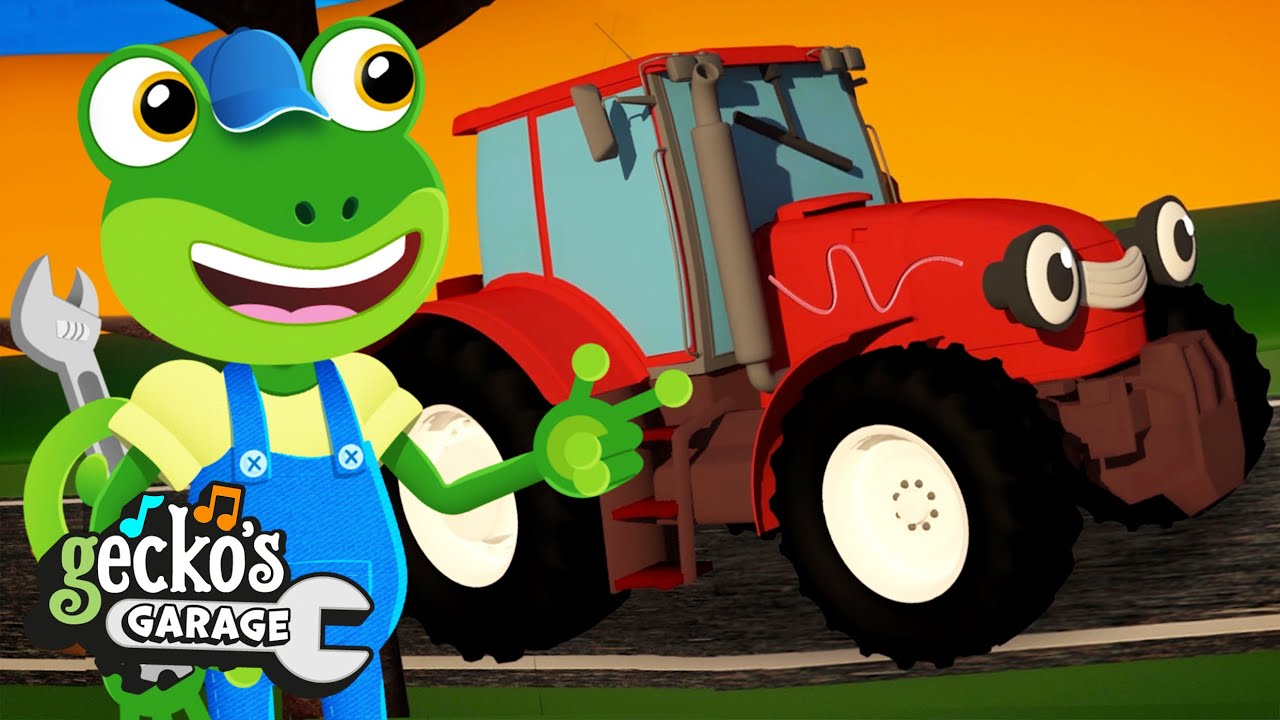 Trevor The Tractor | Gecko's Garage | Trucks For Children | Cartoons For Kids |