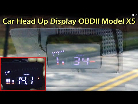 "Car Head Up Display 3"" OBDII (HUD) - Model X5"
