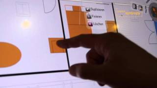 Multitouch Real Estate Configurator on Polytouch Multitouch-Flatscreen