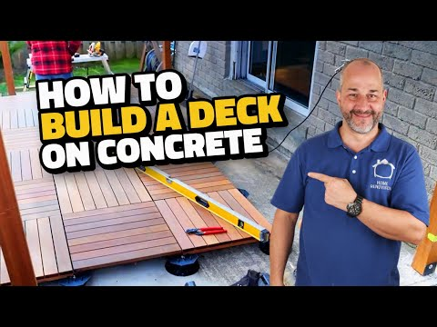How To Install a Deck on Concrete