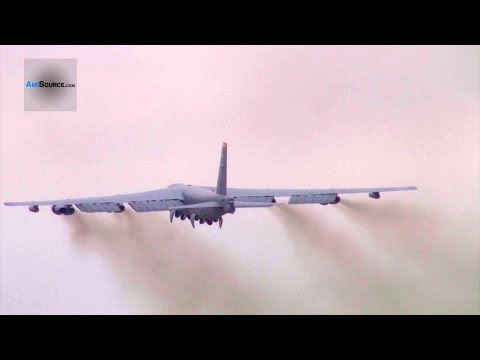 B-52 Stratofortress Takes Off & Cockpit View