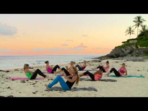 Sunset Beach Barre Workout - Part 2 - Abs, Inner Thighs, Outer Thighs, Glutes, & Arms