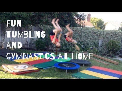 My Home Gym // Gymnastics Equipment Tumbling