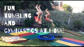 My Home Gym // Gymnastics Equipment Tumbling