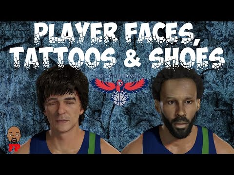 NBA 2K17 - 1971-72 - Atlanta Hawks - Player Faces, Tattoos and Shoes