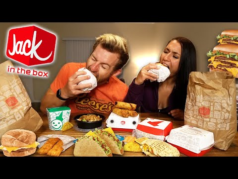 EATING OUR FAVORITES FROM JACK IN THE BOX! (MUKBANG)