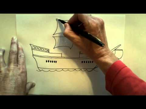 How To Draw A Christoper Columbus Ship