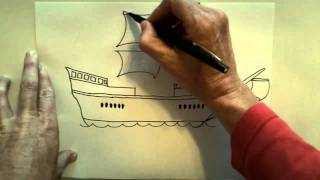 How to draw a Christoper Columbus ship(Step by step on how to draw this ship. I drew this with 3rd graders., 2010-10-23T23:14:48.000Z)