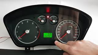 Ford Focus MK2 instrument cluster test after repair