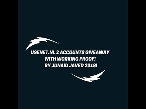 USENET.NL 2 ACCOUNTS GIVEAWAY WITH PROOF! BY JUNAID JAVED 2018!