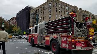 FDNY Engine 53 Arriving On Scene Of A Medical Run On West 110 In Harlem, Manhattan, NYC.