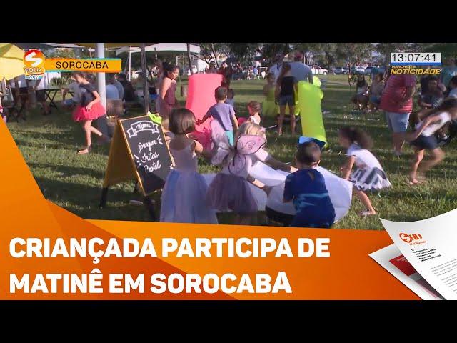 Criançada participa de matinê de carnaval em Sorocaba - TV SOROCABA/SBT