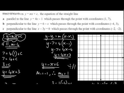 9-1 GCSE Maths - Parallel and Perpendicular Lines