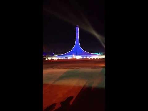 Sochi2014:opening ceremony. Torch lightening))