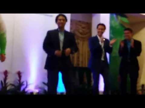 Honolulu Mayor Caldwell and Council Members dance