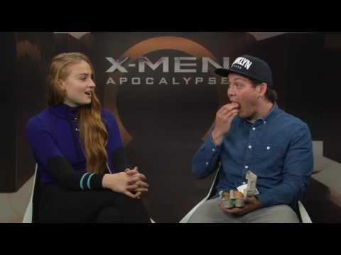 Funny Interview with Sophie Turner about the X-Men: Apocalypse