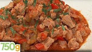 Axoa de veau ou Émincé de veau aux poivrons - 750 Grammes