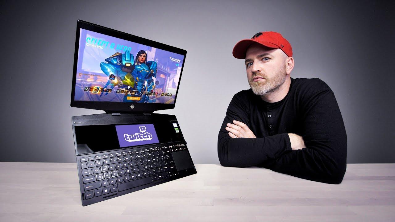 O primeiro laptop para jogos com tela dupla do mundo + vídeo