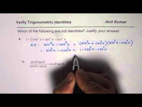 Verify If Trigonometric Equation is an Identity or Not Strategy
