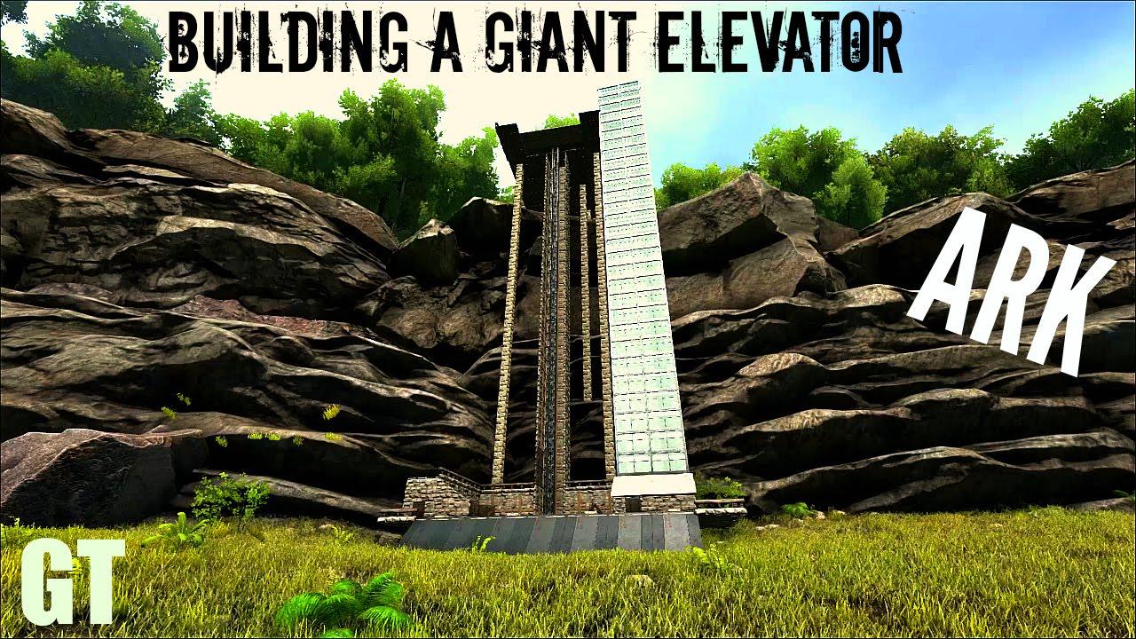 Ark Wood Elevator massive elevator build - electric prod - ark: survival evolved