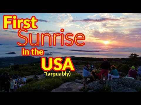 Full Time RV Living | First Sunrise in the United States (disputed) | S2 EP106