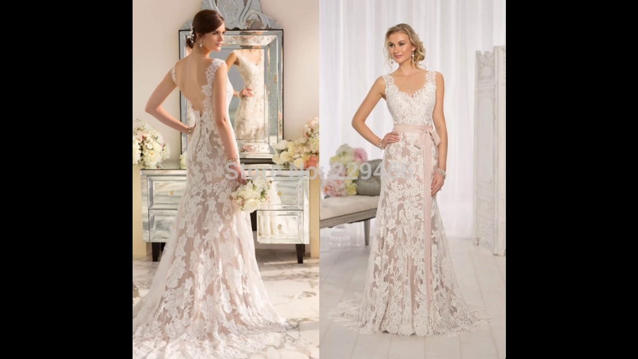 Vestido novia sencillo encaje